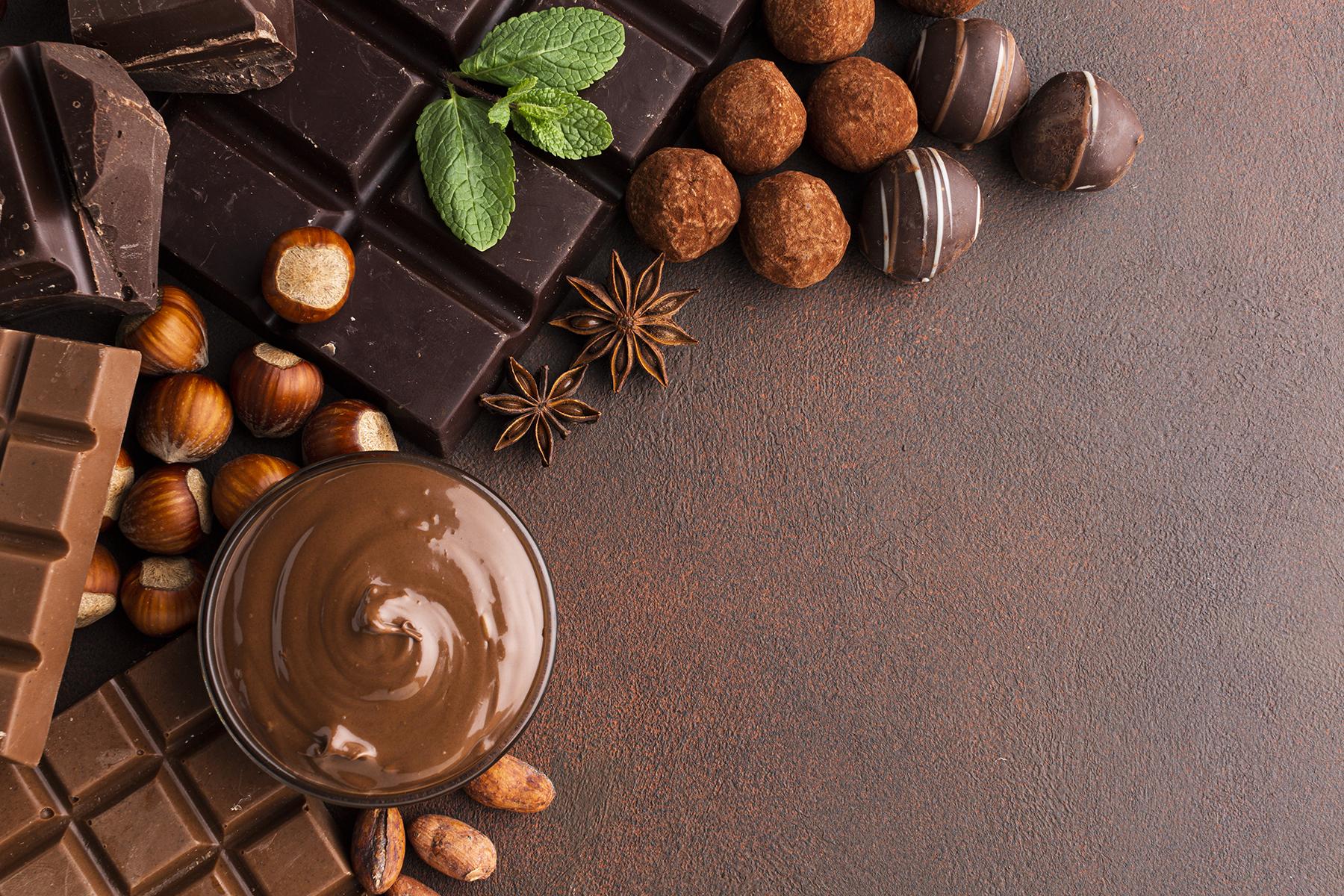fond décor chocolat
