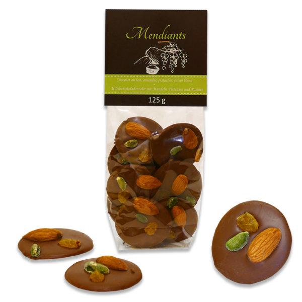 mendiant chocolat amande pistache raisin
