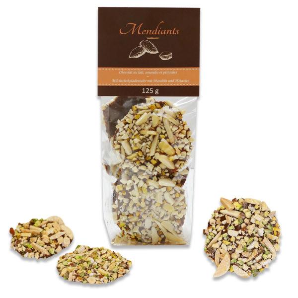 mendiant chocolat amande pistache
