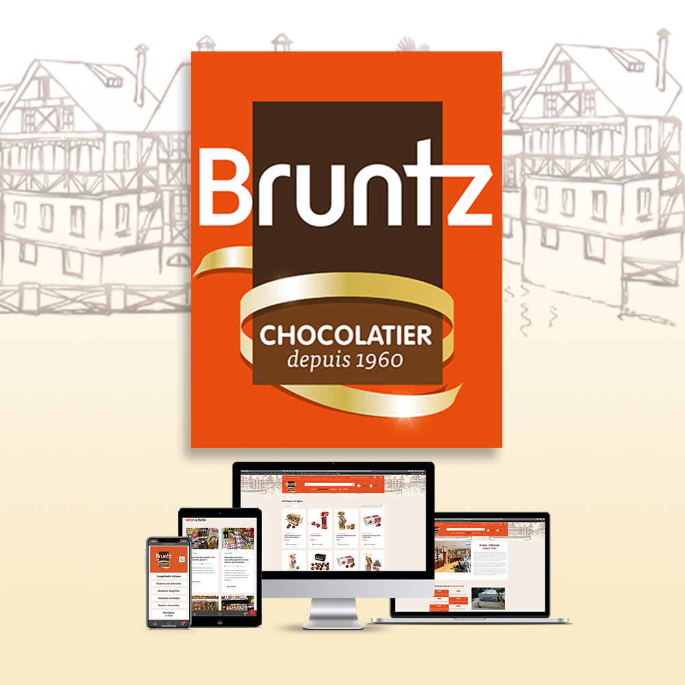 Logo Chocolaterie Bruntz Kingersheim alsace e-commerce boutique en ligne