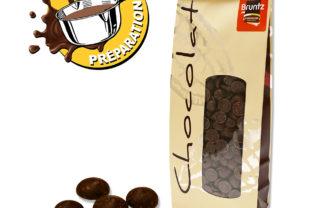 pastilles noir chocolat de couverture
